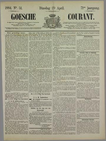 Goessche Courant 1884-04-29