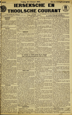 Ierseksche en Thoolsche Courant 1925-02-13