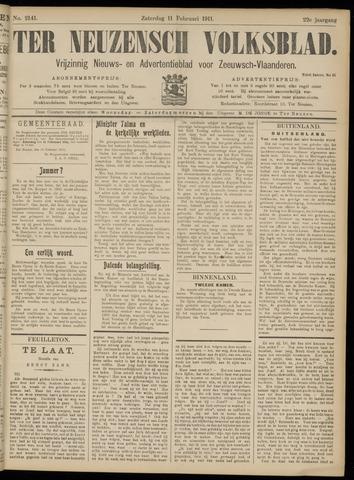 Ter Neuzensch Volksblad. Vrijzinnig nieuws- en advertentieblad voor Zeeuwsch- Vlaanderen / Zeeuwsch Nieuwsblad. Nieuws- en advertentieblad voor Zeeland 1911-02-11