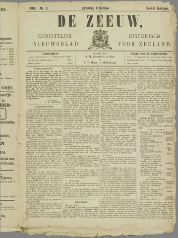 De Zeeuw. Christelijk-historisch nieuwsblad voor Zeeland 1886-10-09