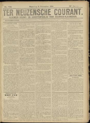 Ter Neuzensche Courant. Algemeen Nieuws- en Advertentieblad voor Zeeuwsch-Vlaanderen / Neuzensche Courant ... (idem) / (Algemeen) nieuws en advertentieblad voor Zeeuwsch-Vlaanderen 1924-11-10