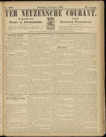 Ter Neuzensche Courant. Algemeen Nieuws- en Advertentieblad voor Zeeuwsch-Vlaanderen / Neuzensche Courant ... (idem) / (Algemeen) nieuws en advertentieblad voor Zeeuwsch-Vlaanderen 1896-10-15