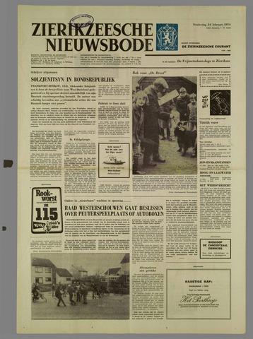 Zierikzeesche Nieuwsbode 1974-02-14
