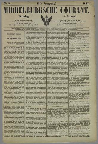 Middelburgsche Courant 1887-01-04