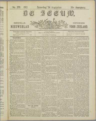 De Zeeuw. Christelijk-historisch nieuwsblad voor Zeeland 1912-08-24