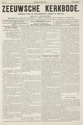 Zeeuwsche kerkbode, weekblad gewijd aan de belangen der gereformeerde kerken/ Zeeuwsch kerkblad 1934-05-25