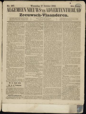 Ter Neuzensche Courant. Algemeen Nieuws- en Advertentieblad voor Zeeuwsch-Vlaanderen / Neuzensche Courant ... (idem) / (Algemeen) nieuws en advertentieblad voor Zeeuwsch-Vlaanderen 1866-10-17