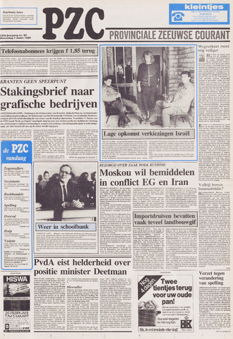 Provinciale Zeeuwse Courant 1989-03-01