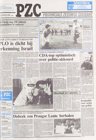 Provinciale Zeeuwse Courant 1988-11-14
