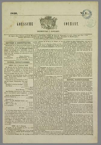 Goessche Courant 1850
