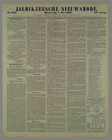 Zierikzeesche Nieuwsbode 1888-05-03