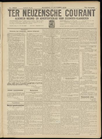 Ter Neuzensche Courant. Algemeen Nieuws- en Advertentieblad voor Zeeuwsch-Vlaanderen / Neuzensche Courant ... (idem) / (Algemeen) nieuws en advertentieblad voor Zeeuwsch-Vlaanderen 1938-10-17
