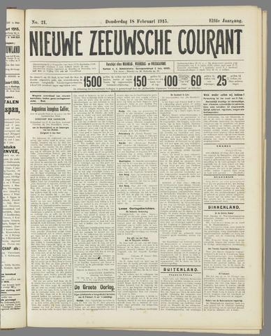 Nieuwe Zeeuwsche Courant 1915-02-18