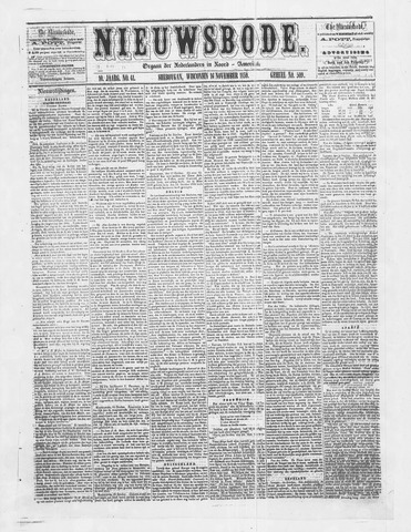 Sheboygan Nieuwsbode 1859-11-16