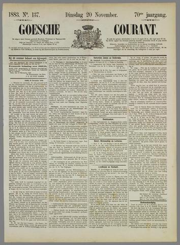 Goessche Courant 1883-11-20