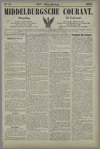 Middelburgsche Courant 1884-02-25