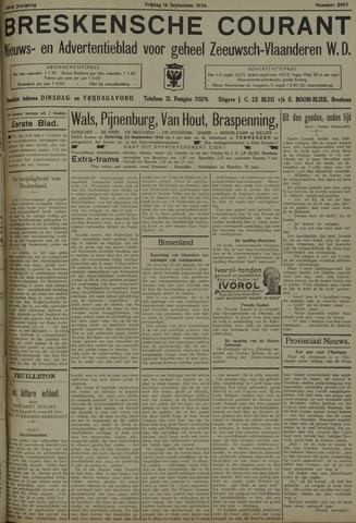 Breskensche Courant 1934-09-14