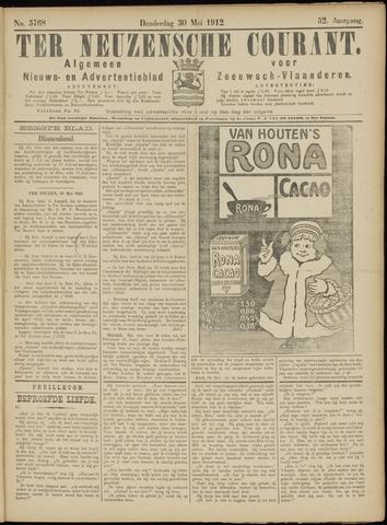 Ter Neuzensche Courant. Algemeen Nieuws- en Advertentieblad voor Zeeuwsch-Vlaanderen / Neuzensche Courant ... (idem) / (Algemeen) nieuws en advertentieblad voor Zeeuwsch-Vlaanderen 1912-05-30