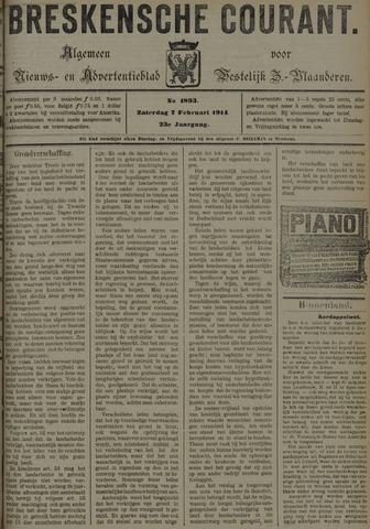Breskensche Courant 1914-02-07