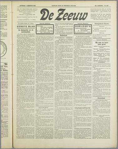 De Zeeuw. Christelijk-historisch nieuwsblad voor Zeeland 1934-08-04
