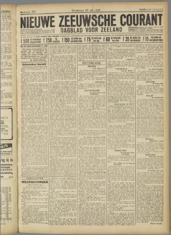 Nieuwe Zeeuwsche Courant 1922-07-27