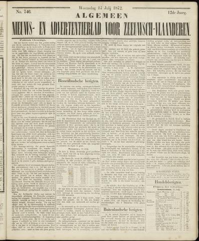 Ter Neuzensche Courant. Algemeen Nieuws- en Advertentieblad voor Zeeuwsch-Vlaanderen / Neuzensche Courant ... (idem) / (Algemeen) nieuws en advertentieblad voor Zeeuwsch-Vlaanderen 1872-07-17