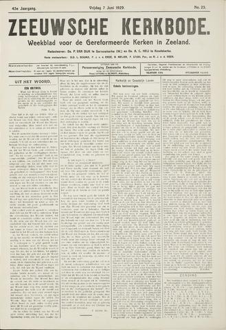 Zeeuwsche kerkbode, weekblad gewijd aan de belangen der gereformeerde kerken/ Zeeuwsch kerkblad 1929-06-07