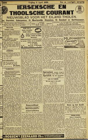 Ierseksche en Thoolsche Courant 1929-04-05