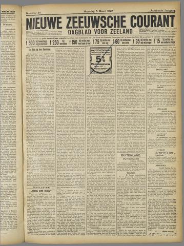 Nieuwe Zeeuwsche Courant 1922-03-06