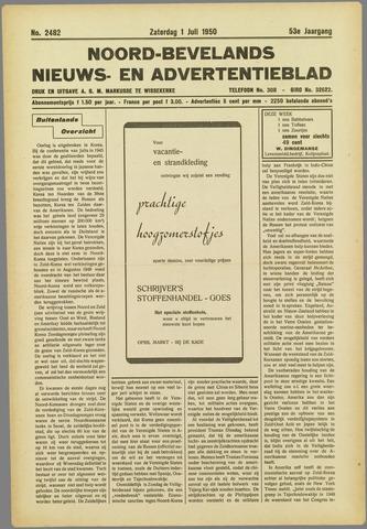 Noord-Bevelands Nieuws- en advertentieblad 1950-07-01