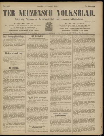 Ter Neuzensch Volksblad. Vrijzinnig nieuws- en advertentieblad voor Zeeuwsch- Vlaanderen / Zeeuwsch Nieuwsblad. Nieuws- en advertentieblad voor Zeeland 1916-01-29
