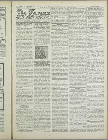 De Zeeuw. Christelijk-historisch nieuwsblad voor Zeeland 1943-10-18