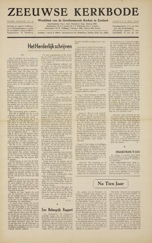 Zeeuwsche kerkbode, weekblad gewijd aan de belangen der gereformeerde kerken/ Zeeuwsch kerkblad 1955-05-06