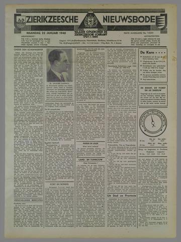 Zierikzeesche Nieuwsbode 1940-01-22