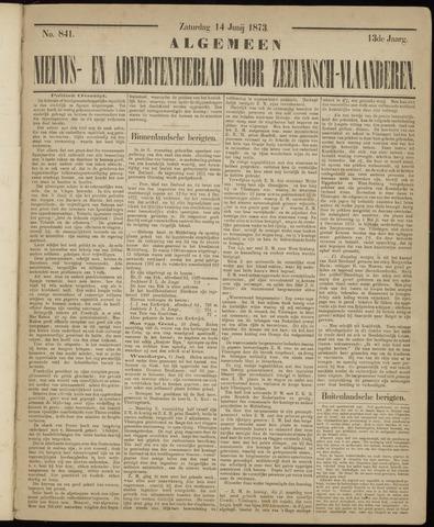 Ter Neuzensche Courant. Algemeen Nieuws- en Advertentieblad voor Zeeuwsch-Vlaanderen / Neuzensche Courant ... (idem) / (Algemeen) nieuws en advertentieblad voor Zeeuwsch-Vlaanderen 1873-06-14