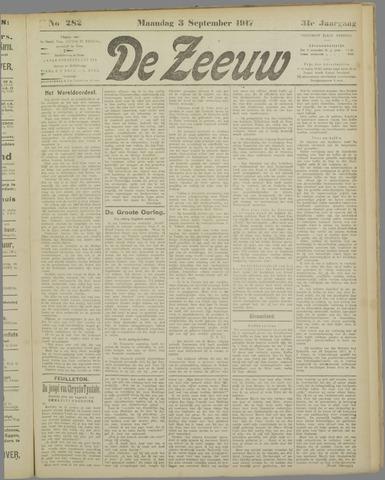 De Zeeuw. Christelijk-historisch nieuwsblad voor Zeeland 1917-09-03