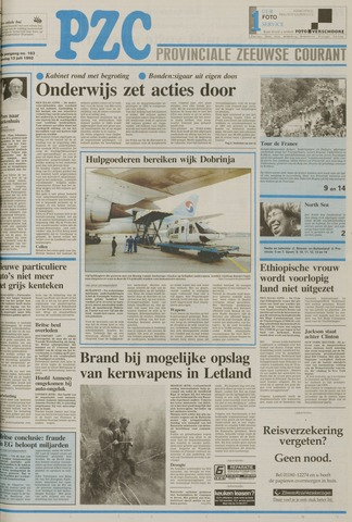 Provinciale Zeeuwse Courant 1992-07-13
