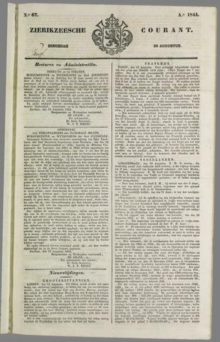 Zierikzeesche Courant 1844-08-20