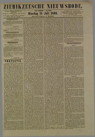 Zierikzeesche Nieuwsbode 1891-07-14