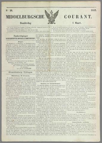 Middelburgsche Courant 1855-03-01