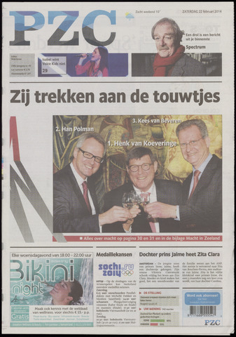 Provinciale Zeeuwse Courant 2014-02-22
