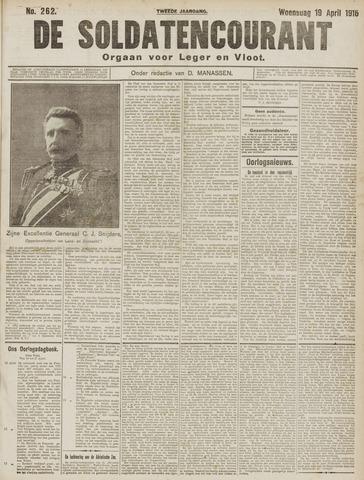 De Soldatencourant. Orgaan voor Leger en Vloot 1916-04-19