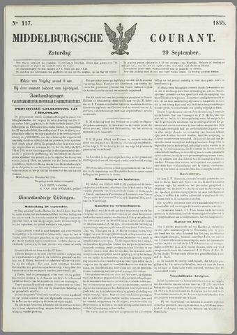 Middelburgsche Courant 1855-09-29