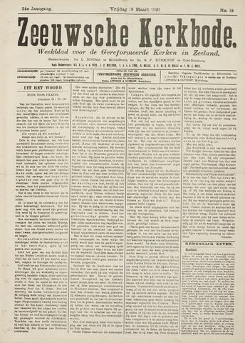 Zeeuwsche kerkbode, weekblad gewijd aan de belangen der gereformeerde kerken/ Zeeuwsch kerkblad 1920-03-19