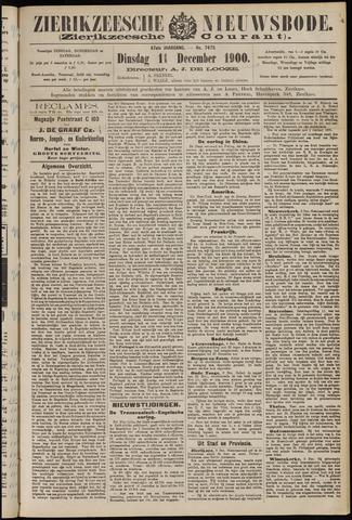Zierikzeesche Nieuwsbode 1900-12-11