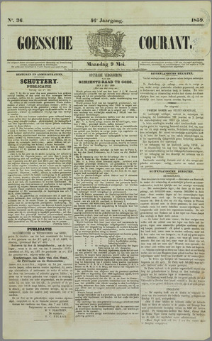 Goessche Courant 1859-05-09