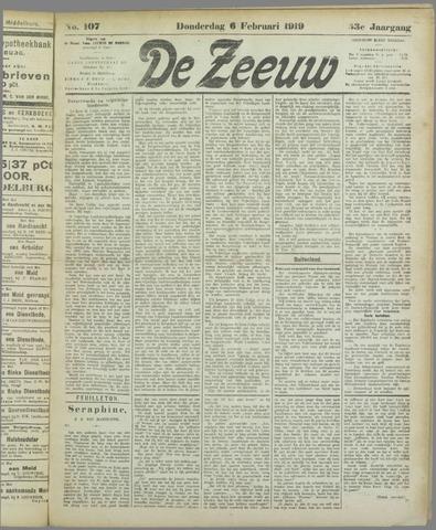 De Zeeuw. Christelijk-historisch nieuwsblad voor Zeeland 1919-02-06