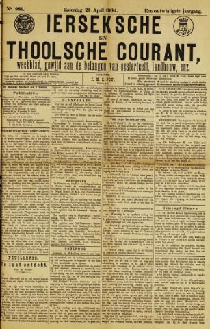 Ierseksche en Thoolsche Courant 1904-04-23