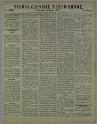 Zierikzeesche Nieuwsbode 1882-07-15