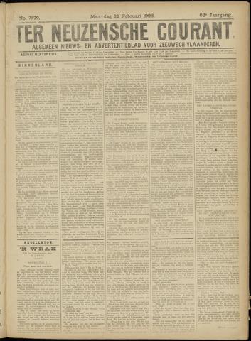 Ter Neuzensche Courant. Algemeen Nieuws- en Advertentieblad voor Zeeuwsch-Vlaanderen / Neuzensche Courant ... (idem) / (Algemeen) nieuws en advertentieblad voor Zeeuwsch-Vlaanderen 1926-02-22